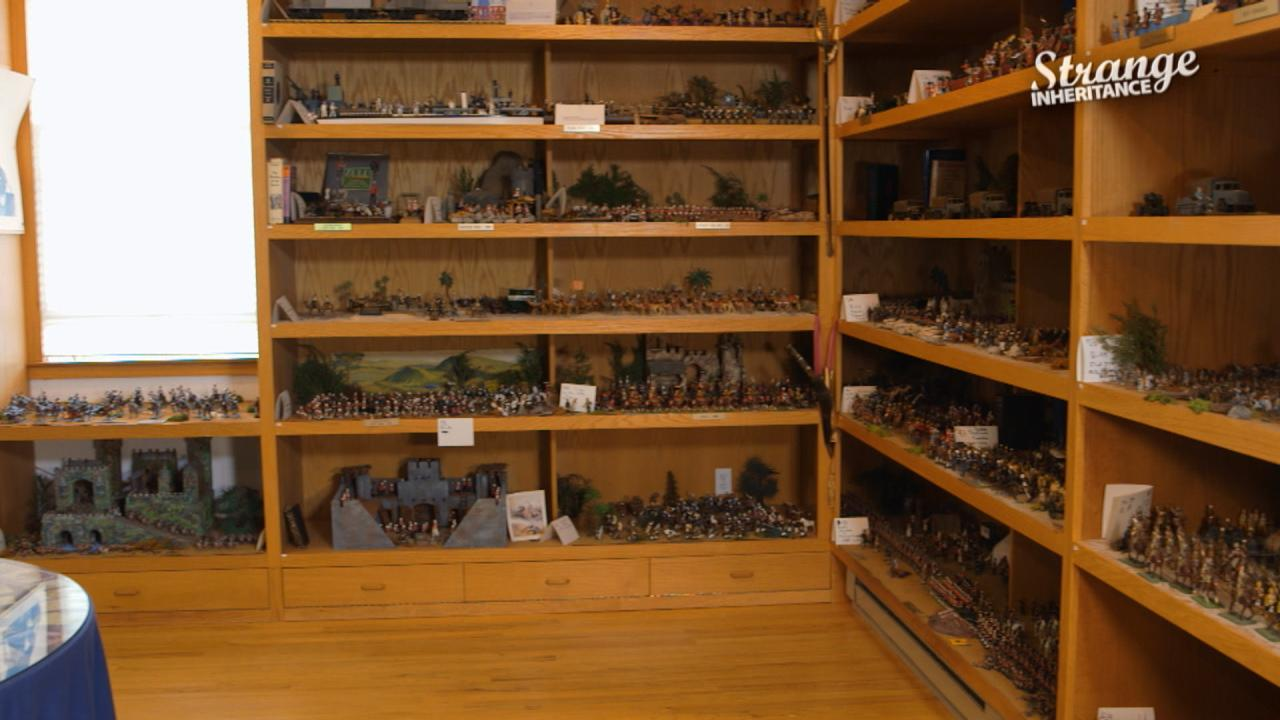 An amassed collection of toy soldiers never seen before, with it's own trust.