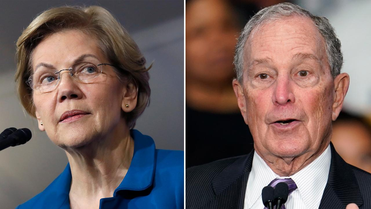 Westlake Legal Group 990505083001_6132738919001_6132739008001-vs Warren goes after 'egomaniac billionaire' on eve of Bloomberg's debate debut Marisa Schultz fox-news/politics/2020-presidential-election fox-news/person/michael-bloomberg fox-news/person/elizabeth-warren fox news fnc/politics fnc article 900cf95c-8a14-5a41-8474-29234c922ccf